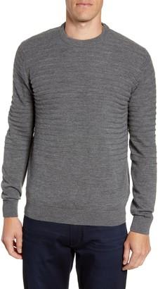 Bugatchi Stripe Knit Crewneck Sweater