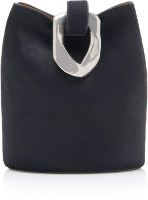 Bottega Veneta Drop Clasp-Detailed Hair-On Pony Bucket Bag