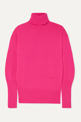 Victoria Beckham Cashmere-blend Turtleneck Sweater - Fuchsia