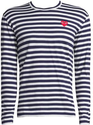 Comme des Garcons Long-Sleeve Striped T-Shirt