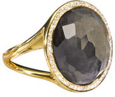 Ippolita 18k Rock Candy Mini Lollipop Ring in Pyrite & Diamond