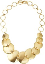 Robert Lee Morris Gold Disc Frontal Necklace