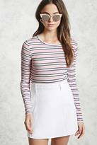Forever 21 FOREVER 21+ Striped Ribbed Top