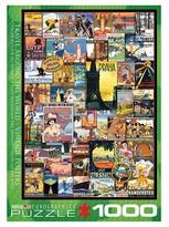 EuroGraphics Vintage Collage Travel World 1000 pc Puzzle