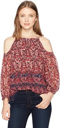 Ella Moon Women's Ariella Cold Shoulder Blouson Sleeve Top
