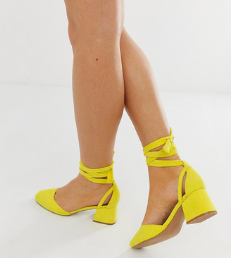 ASOS DESIGN Wide Fit Windmill tie leg mid heels