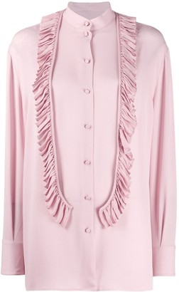 Valentino Ruffle Front Blouse