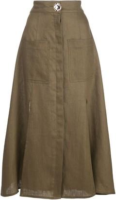 Nicholas Button Up Skirt