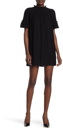 Kenedik Clip Dot Smocked Yoke Mini Dress