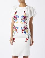 Marcella Embroidered Midi Dress