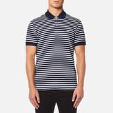 Lacoste Stripe Polo Shirt Navy Blue/flour