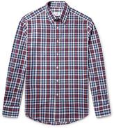 Dunhill Button-down Collar Checked Cotton Oxford Shirt
