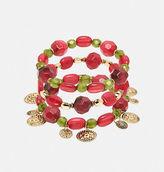 Avenue Berry Coin Stretch Bracelet Set