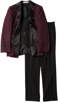 Isaac Mizrahi 3-Piece Satin Lapel Suit (Toddler, Little Boys, & Big Boys)