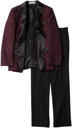 Isaac Mizrahi 3-Piece Satin Lapel Suit (Toddler, Little Boys, & Big Boys)