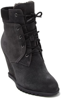 Dolce Vita Gibbs Faux Fur Lined Wedge Bootie
