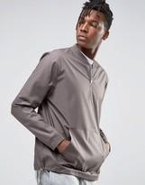 Asos Oversized Woven Crew Sweatshirt with Half Zip