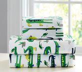 Pottery Barn Kids Alligator Sheet Set : Standard Pillow Case : Green