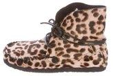 Etoile Isabel Marant Ponyhair Square-Toe Ankle Boots