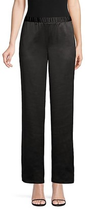 Eileen Fisher Satin Straight-Leg Pants