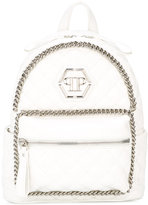 Philipp Plein chain quilted backpack - kids - Polyurethane - One Size