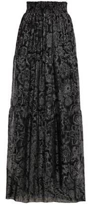 Just Cavalli Glittered Crepe Maxi Skirt