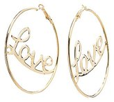 Charlotte Russe Love Hoop Earrings
