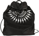 Neil Barrett Black/white Kefiah Camouflage Backpack