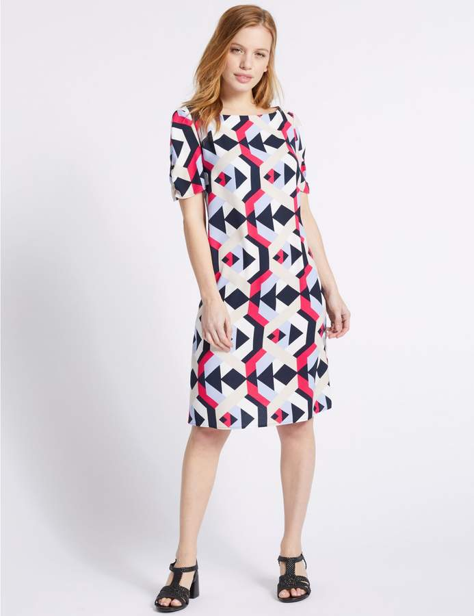 Marks and Spencer PETITE Geometric Print Tunic Dress