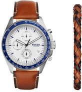 Fossil Sport 54 Leather Strap Chronograph Watch