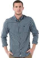 Timberland Mens Gingham Washed Poplin Long Sleeve Shirt Stone Blue