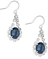Cezanne Oval Rhinestone Drop Statement Earrings