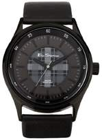 Ben Sherman Men's Quartz Watch with Black Dial Analogue Display and Black Plastic Strap BS030