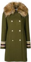 Bazar Deluxe - double breasted coat - women - Nylon/Polyester/Spandex/Elastane/Virgin Wool - 42
