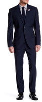 HUGO BOSS Dark Blue Grand/Central Two Button Notch Lapel Trim Fit Wool Suit