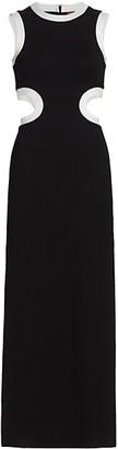 STAUD Dolce Waist-Cutout Maxi Dress