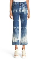 Stella McCartney Women's Bleach Dyed Crop Flare Jeans