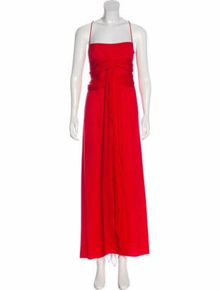 Valentino Silk Maxi Dress Red