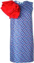 Brognano - ruffled sleeve jacquard dress - women - Acrylic/Polyamide/Polyester/Polyimide - 40
