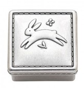 The Well Appointed House Reed & Barton Quilted Rabbit Pewter Keepsake Box for Kids