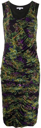Patrizia Pepe Floral-Print Ruched Dress
