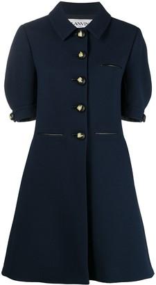 Lanvin Puff-Sleeve Shirt Dress