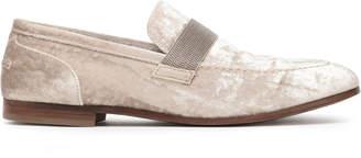 Brunello Cucinelli Bead-embellished Velvet Loafers