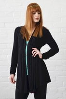 linQ Pleated Draped Jacket in Black