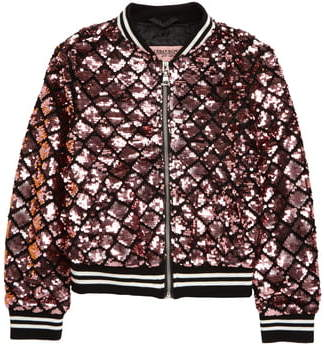 Urban Republic Sequin Embellished Bomber Jacket
