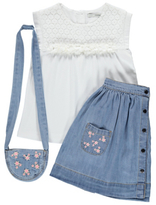 George T-Shirt, Denim Skirt and Bag Set
