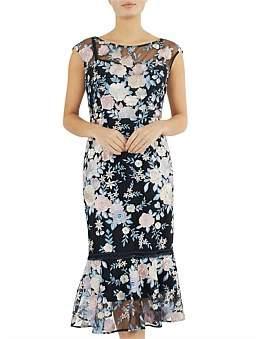 Anthea Crawford Tea Rose Midi Dress