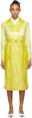 Sies Marjan Yellow Embossed Plastic Trench Coat