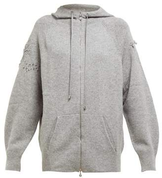 Barrie Lace Stitched Cashmere Hooded Sweatshirt - Womens - Grey