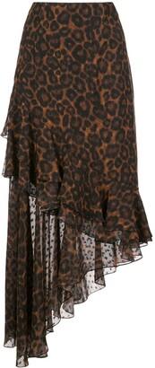 Erdem Antoniette leopard-printed skirt